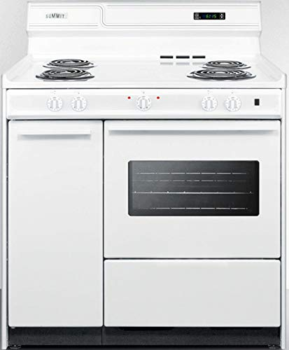 Summit WEM430KW Kitchen Electric Cooking Range, White