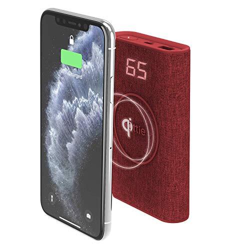 iOttie Ion Wireless Go Caricabatterie Portatile Power Bank per iPhone XS Max R 8 Plus 10W per Samsung Galaxy S10 E S9 S8 Plus Edge, Nota 9 Rubino