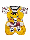 TENDERCARE Baby Boy's & Baby Girl's Jumbo The Elephant Dungaree for 0-6months Baby || Dress Clothes for Baby boy and Baby Girl (Yellow, 6-9 Month)