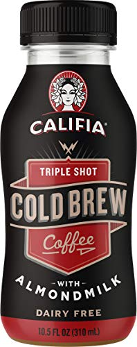 Califia Farms Triple Shot Cold Brew Coffee with Almondmilk, 10.5 Oz (Pack of 12) | Dairy Free | Plant Based | Nut Milk | Vegan | Non-GMO