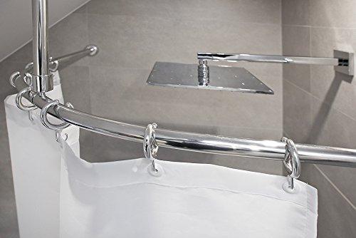 KS Handel 24 ALU BOGENSTANGE BARRIEREFREI Weiss UND Silber GLÄNZEND (80x80, Silber glänzend)