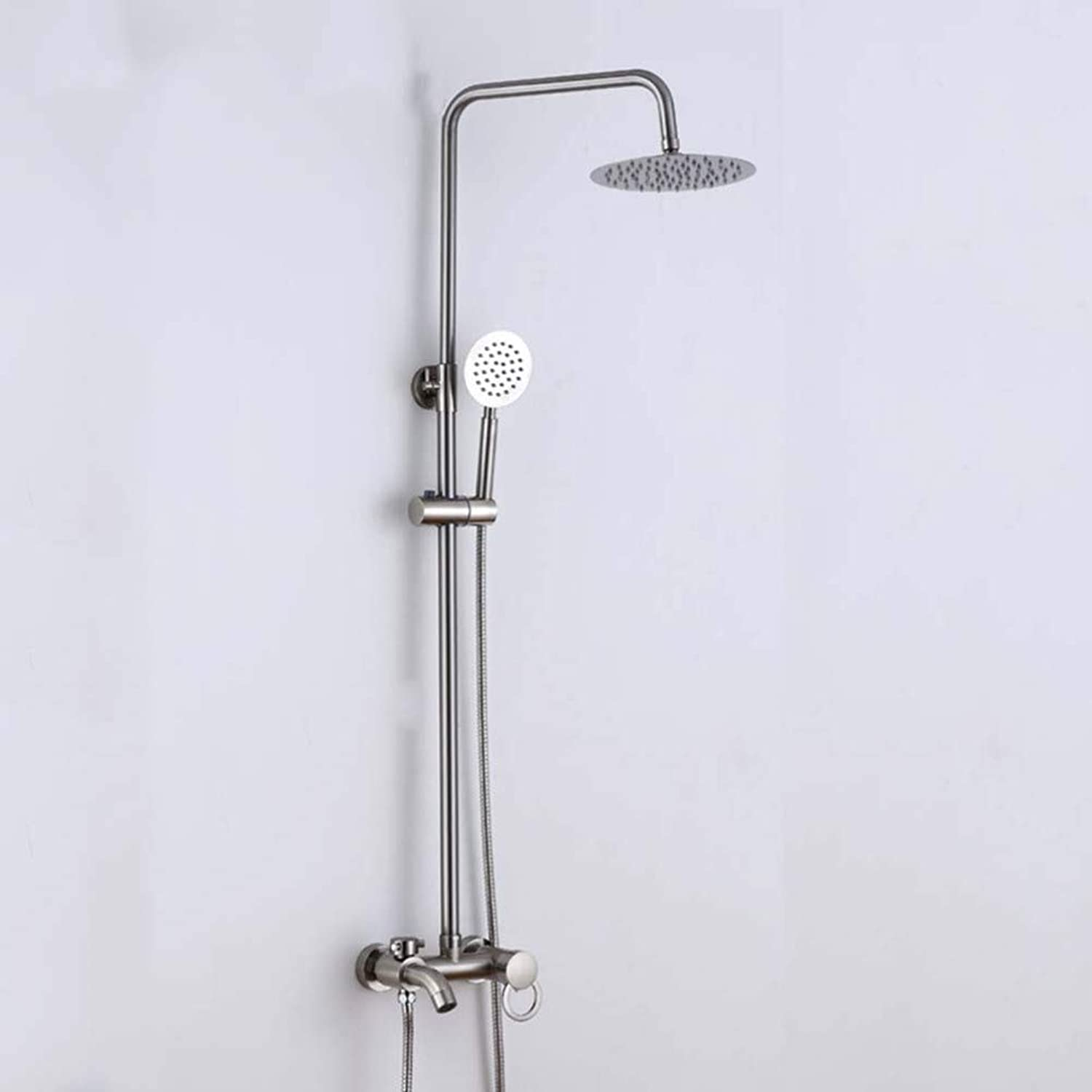 CF shower set wall mounted hot and cold adjustment lift shower set shower set