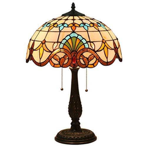 Décoratif lampe de table d'éclairage- Lampe de chevet rétro Chambre chevet lampe Salon Canapé Lampe Bar Café Western Hôtel Restaurant Table Lamp (Taille : Zinc alloy base)