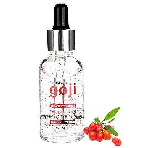 Goji Berries Serum, Anti-Envejecimiento Antioxidante Facial Hidratante Revitalizante Anti Arrugas Dilución Melanina Cuidado Facial Aceite Esencial, Suave y Sin Irritación 30ml