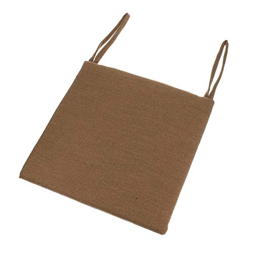 Linen Cotton Cushion Seat Cushion Comfortable Soft Cushion Is Suitable For Comfortable Dining Room And Garden Chair Cushions, Office, Car, Lawn, Coffee Shop Use With 2 Firm Cable Ties 15.7x15.7x1.2 In