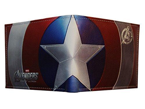 Portafoglio doppia falda centrale Marvel, Capitan America