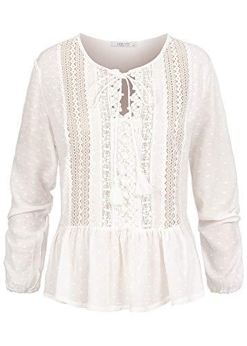Hailys Damen Bluse Offwhite XL