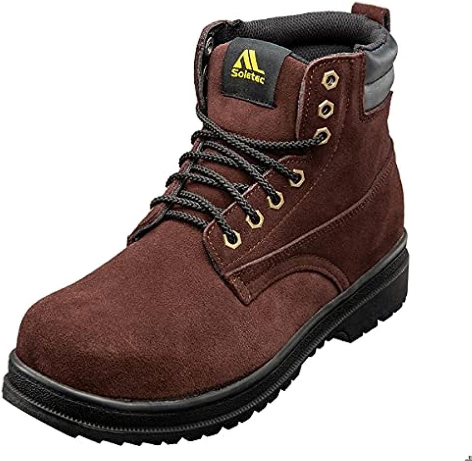 Soletec Steel Toe, Steel plate, Oil resistant, Slip resistant, Static Dissipative, Industrial Work Boot, 108505
