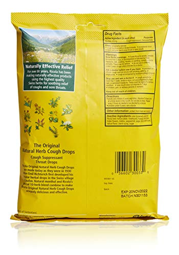 Ricola Original Herbal Cough Suppressant Throat Drops, 50ct Bag (Pack of 2)