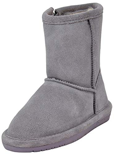 BEARPAW Emma Toddler Zipper Mid Calf Boot, Grey Fog/Wisteria 9 M US Toddler