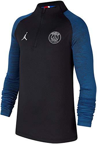 Nike Camiseta unisex de manga larga Jordan x PSG para niños, CT2354, Negro - Azul, M