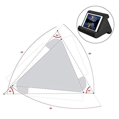 ZYBC Tablet Ständer Kissen, Multi Angle Soft Bed Pillow Holder Tragbarer Dreieck Tablet Ständer Für Tablets, Smartphones, Bücher (DB)