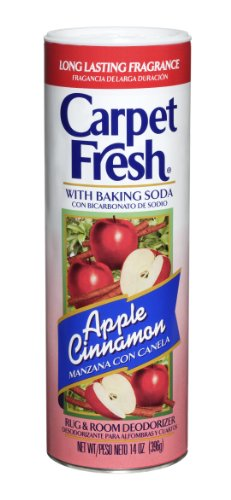 Carpet Fresh 277119 Rug and Room Deodorizer with Baking Soda 14 oz Apple Cinnamon Fragrance (Pack of 12)