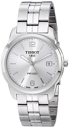 Tissot T049.410.11.037.01 reloj de esfera plateada para hombre