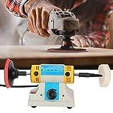 Cincel de madera, cincel eléctrico, herramientas de tallado, máquina de tallado de mesa de madera multifunción DIY Mini amoladora eléctrica 10000 rpm(EU Plug 220V)