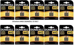 Duracell MN21 - Pila alcalina, 12 v 23A, 20 Unidades