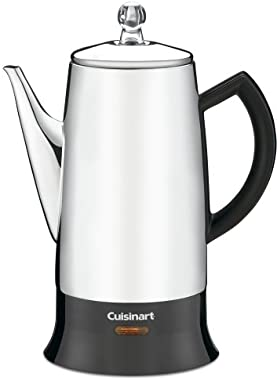 Cuisinart PRC-12 Classic 12-Cup Stainless-Steel Percolator, Black/Stainless