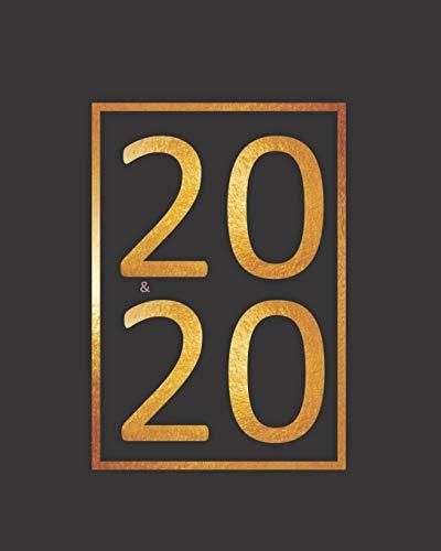 2020: planificador semanal y mensual 1 de enero 2020 al 31 de diciembre de 2020 mas vista de calendario y cubierta floral
