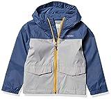Columbia Boys' Toddler Rain-Zilla Jacket, Waterproof, Reflective, Grey/Dark Mountain, 3T