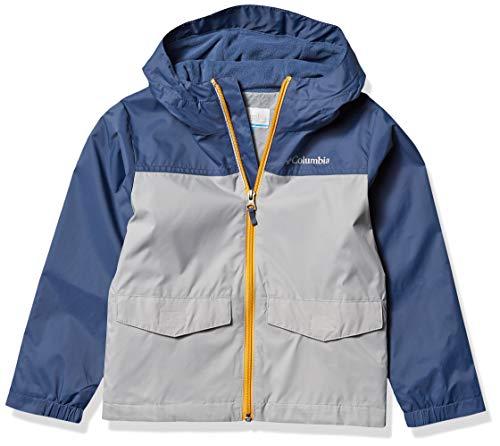 Columbia Boys' Big Rain-Zilla Reflective Jacket, Grey/Dark Mountain, X-Large