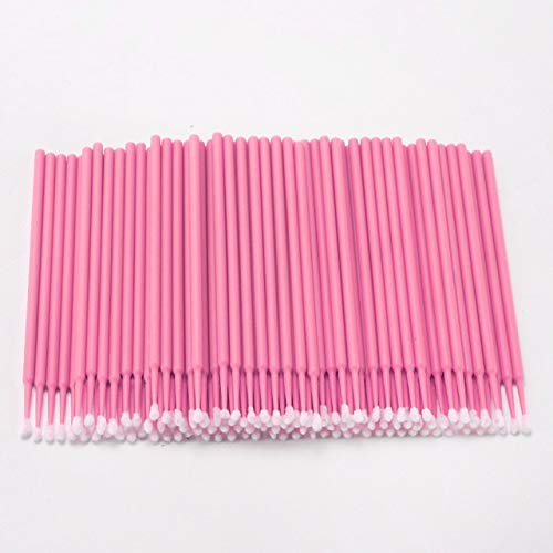 Ssg 100PCS Tattoo Cotton Swab Lint Fournitures Brosse Microblading Micro Brosses Applicateur Tattoo Accessoires for le maquillage Nouveau (Color : Pink)
