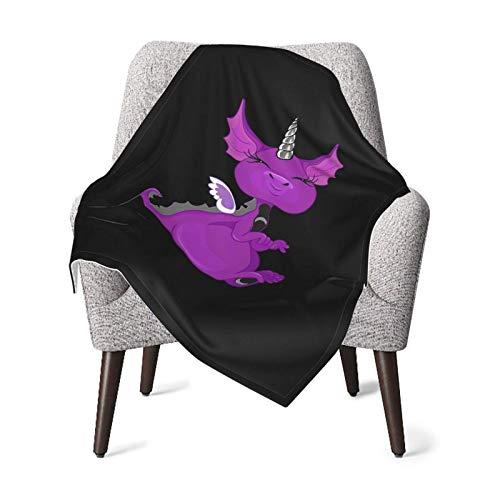 YUNJUAN The Asexuality Blog - Unidragon Mascot Logo Baby Blanket Manta Estampada súper Suave Manta receptora para niños niñas, Cochecito, Cuna, recién Nacidos, recepción