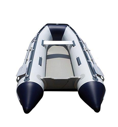 Newport Vessels Santa Cruz Air Mat Floor Inflatable Tender Dinghy Boat (10-Feet), White/Navy (20M1000023)