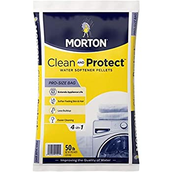 Morton Salt 1501 Clean Protect System Water Softener, 50 lbs, White, 50 lbs