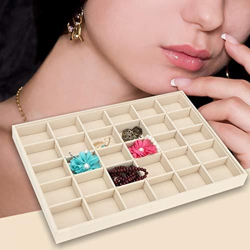 Exhibición de joyas de madera, accesorios de baño, organizador de cosméticos, caja...