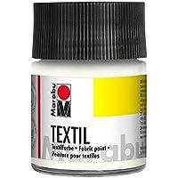Marabu 070 - Pintura Textil (50 ml), Color Blanco