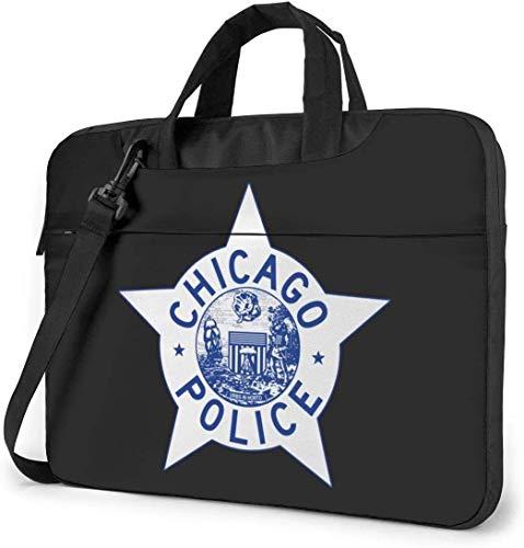 Chicago Police Logo Laptoptasche Stoßfeste Aktentasche Umhängetaschen Tragetasche Laptop 15,6 Zoll