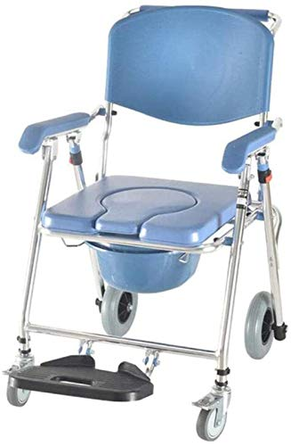 HMMN Silla de Inicio portátil, Transporte médico Aseo de baño Conjunto de baño Ruedas para sillas de Ruedas Costeras de Cierre de Ruedas Paciente Silla de Rueda de la Rueda
