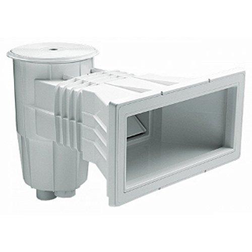 Fluidra 00251 – Skimmer, 15 l, für Beton-Pools, mit erweiterter Öffnung, runder Deckel, weiß