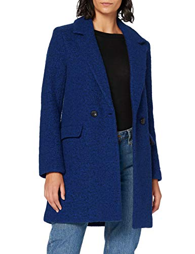Only ONLNEWALLY Wool Coat CC Otw Cappotto di Lana, Blu-Sodalite Blue, XS Donna