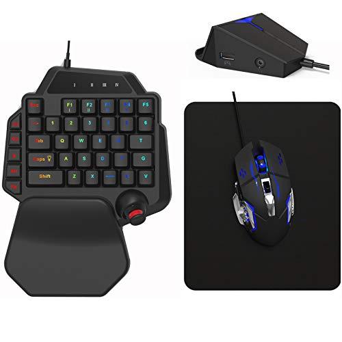 DarkWalker FO222 Gaming-Tastatur und -Maus für PS4, Xbox One, Switch, PC Windows 7 8 10, PS3, Xbox 360