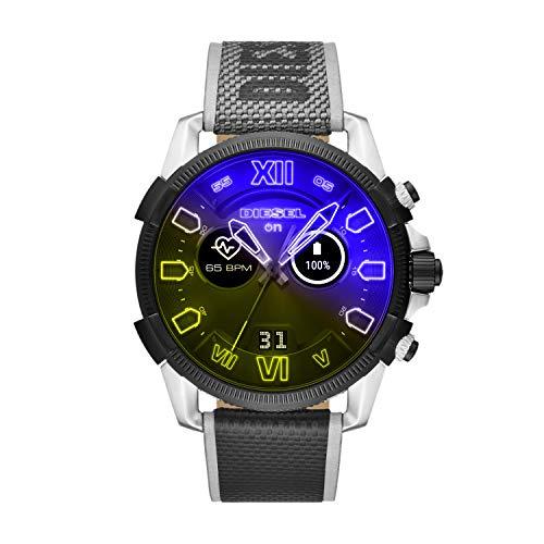 Relógio masculino Diesel On Full Guard 2.5 com sistema operacional Wear da Google com frequência cardíaca, GPS, NFC e notificações de smartphone, Multi
