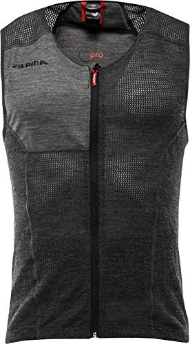 ALPINA Herren, PROLAN MEN VEST Protektor, dark grey, XL
