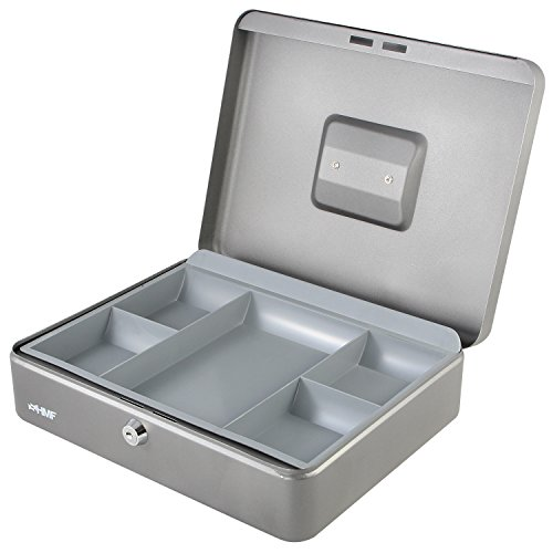 HMF 10130-09 Caja de caudales 30 x 24 x 9 cm, plata