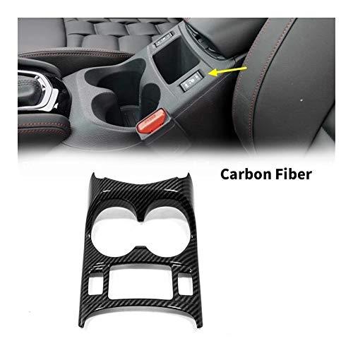 Furong Carbon-Faser-Konsole Mittelfront Wasserbecherhalter-Trim-Auto-Innenausstattung Sitz for Nissan Qashqai J11 2014-2018 2019 (Color Name : Carbon Fiber)