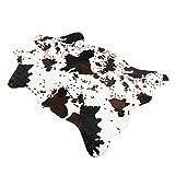 Famibay - Alfombra de piel de vacuno sintética con impresión de vaca, 70 x 110 cm