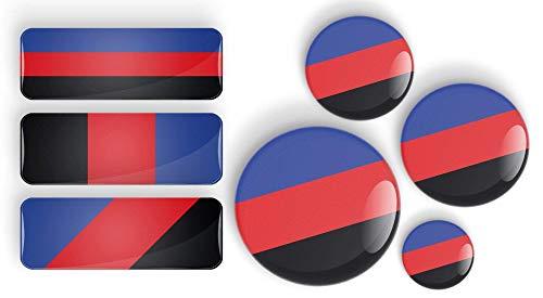 LGBTQIA Polyamory Pride Flag Stolz Flagge Anstecknadel oder Kühlschrankmagnet