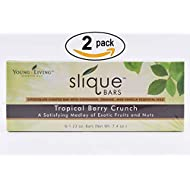 Young Living Slique Bars, Chocolate Coated Tropical Berry Crunch, 6 Count, 5297 Pack of 2