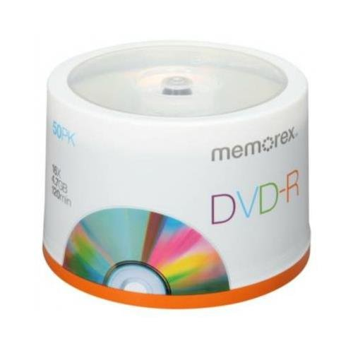 MEM05639 - Memorex DVD Recordable Media - DVD-R - 16x - 4.70 GB - 50 Pack Spindle
