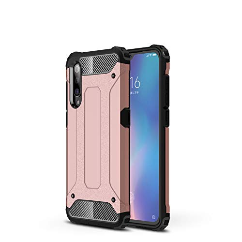 NOKOER Funda para Xiaomi Mi MAX 4, 2 in 1 PC + TPU Cover, A Prueba de Golpes Telefono Movil Funda [A Prueba de Polvo] [Huella Digital Anti] Case para Xiaomi Mi MAX 4 Smartphone - Oro Rosa