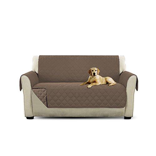 PETCUTE Lujo Cubre para Silla Fundas de Sofa Protector de sofá o sillón, Dos o Tres plazas Marrón Claro 2 plazas