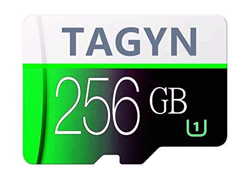 TAGYN マイクロSDメモリーカード 256GB 超高速Class10 + SDカードアダプ (J3V6-MG)