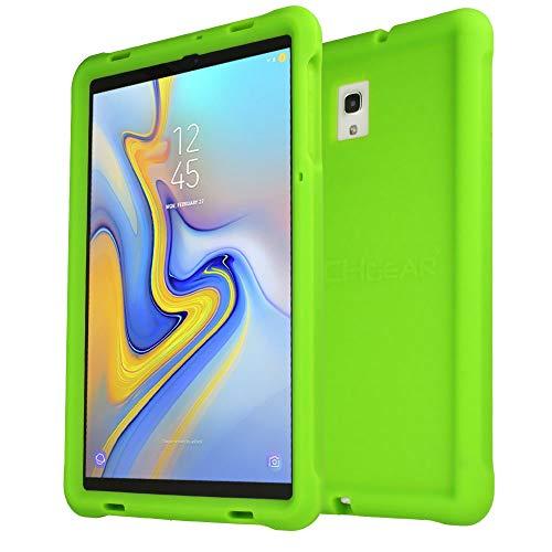 TECHGEAR Bumper Case Compatibel met Samsung Galaxy Tab A 10,5 2018 (SM-T590 SM-T595), Hoesje Schokbestendige Zachte Siliconen Antislip Behuizing met Scherm Beschermer, Kindvriendelijk hoes -Groen