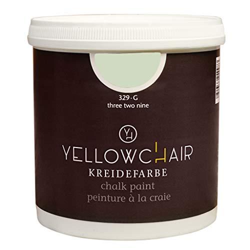 Kreidefarbe yellowchair 1 Liter ÖKO für Wände und Möbel Shabby Chic Vintage Look (No. 329G pistazie)