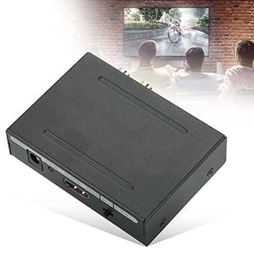 Hoseten Divisor de Audio, convertidor de Carcasa de Acero Ligero HDCP 1.4 LED con Fuente de alimentación para TV(Transl)