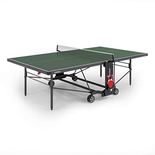 Sponeta Unisex– Erwachsene S 4-72e Tischtennistisch, grün, Spielposition: L 274 cm 76 cm Abstellposition: L 164 cm (mit Netz 187 cm) x B 72 cm x H 156 cm